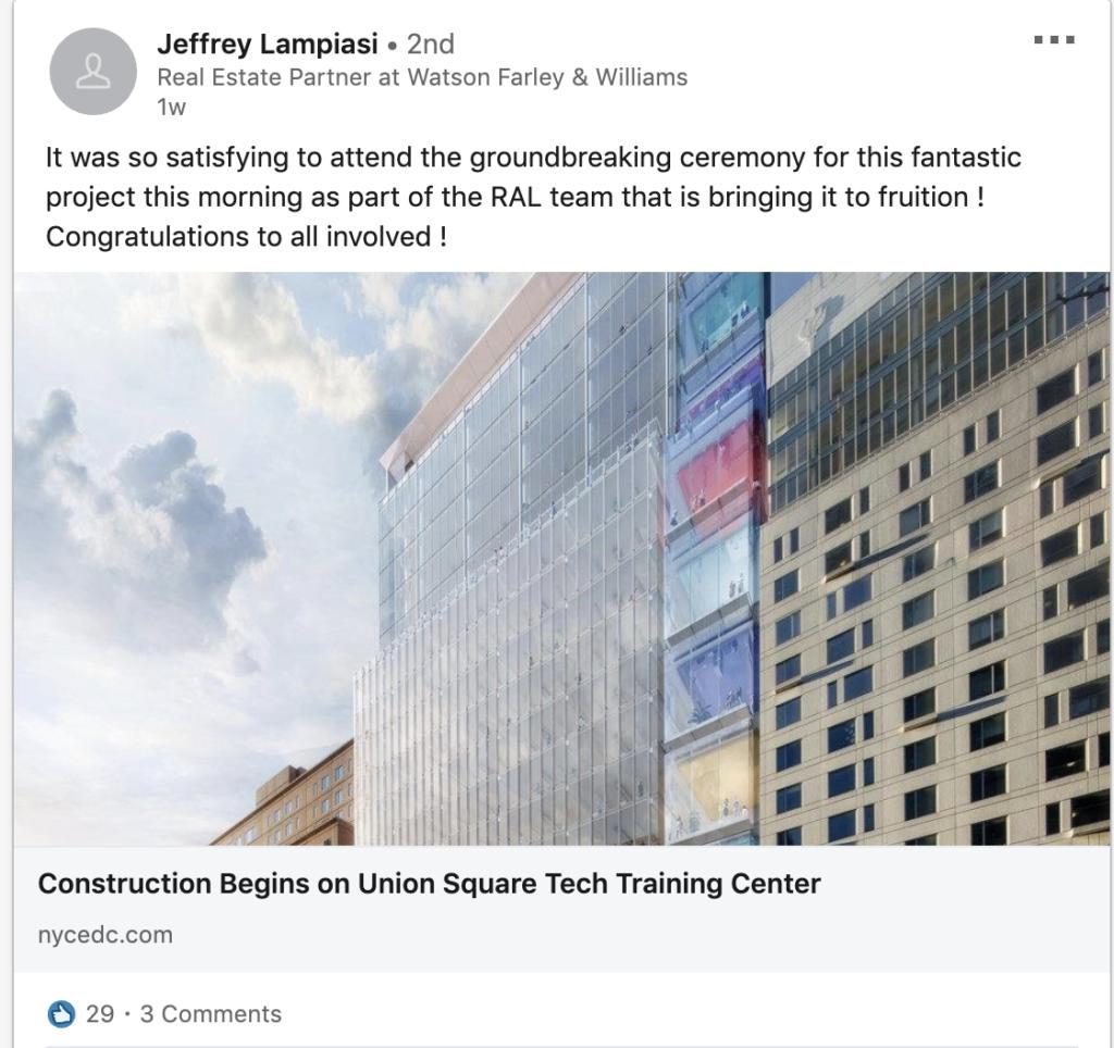 Construction Begins on Union Square Tech Training Center