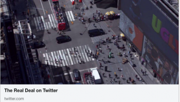 Times Square's newest project... Linked In Screen Shot