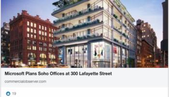 Microsoft is coming to SoHo LinkedIn screen shot