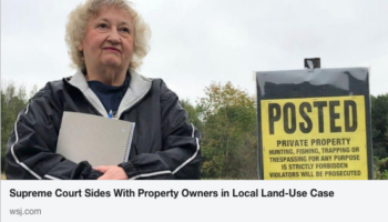 The Supreme Court handed down a wonderful landmark decision on property rights. LinkedIn screenshot