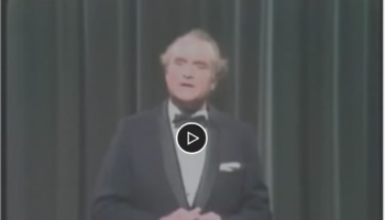 Red Skelton profoundly explaining the Pledge of Allegiance. It is worth watching. (Non-political)